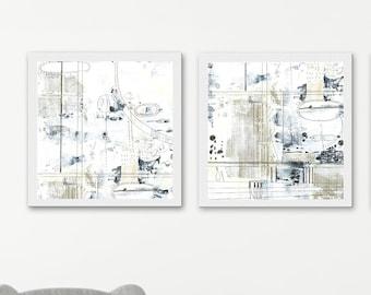 Light Abstract Printable Artwork - Neutral Beige 3 Piece Wall Art , DIY Modern Art , Geometric Print Set , Master Bedroom Print