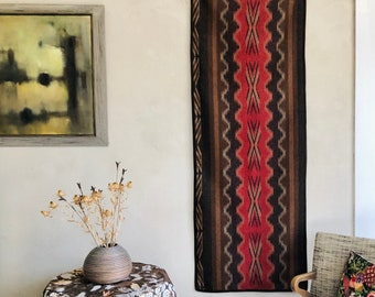 Wall Hanging Large Size Iconic Motifs Double-Sided Wool Textile Art