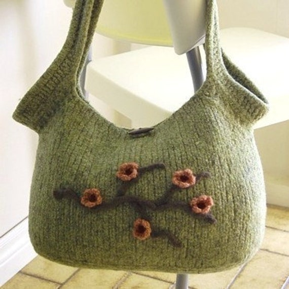 Pdf Pattern Felted Bag Pattern Felted Purse Pattern Etsy