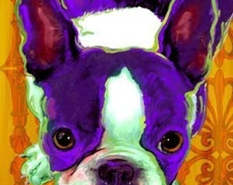 Bridget the Boston Terrier print