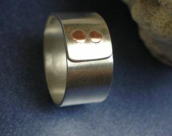 Status - Brushed Finish - Argentium Sterling Silver Ring