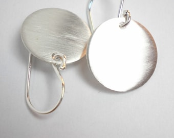 Mini Disc Earrings - Sweet Minis - Argentium Solid Sterling Silver