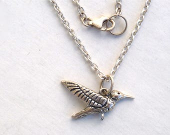 Humminbird pendant Sterling silver Chain Necklace