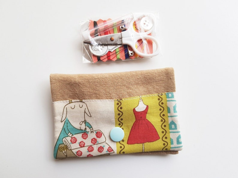 Sewing kit  sewing theme  dress  needlework  dots  image 0