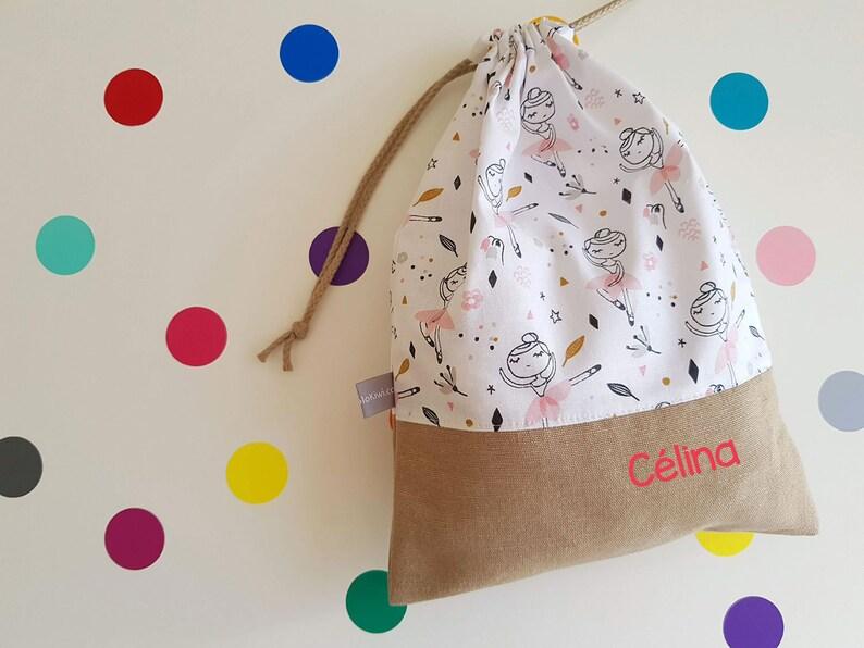 Customizable drawstring pouch  kindergarden  dance  dancer image 0