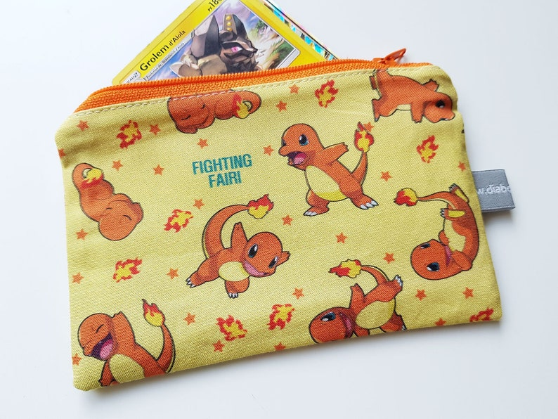 Mini zipper pouch  Mini zipper case  Pokemon  Charmander  image 0