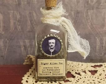 Cemetery dirt - Edgar Allan Poe art bottle