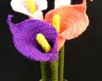 Flower Crochet Pattern Calla Lily Crochet Pattern PDF Instant Download Calla Lily Flower