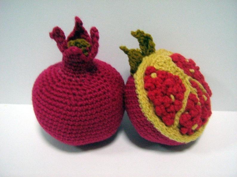 Fruit Crochet Pattern Pomegranate Crochet Pattern PDF Instant image 0