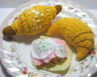 Croissant Crochet Pattern Food Crochet Pattern PDF Instant Download Croissants