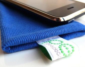 iphone sock - electric blue