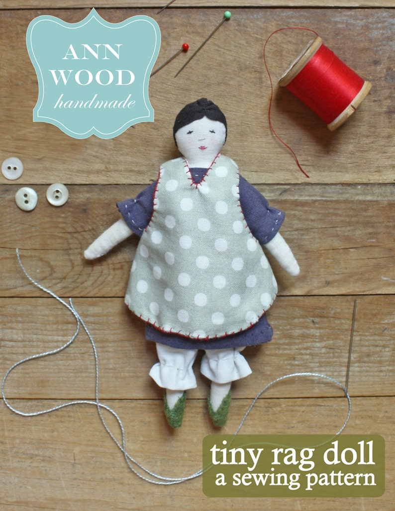 tiny rag doll : a sewing pattern image 0