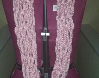 Wool Blend Arm Knitted Infinity Scarf