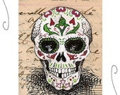 Sugar Skull Original ACEO 2.5x3.5 Day of the Dead Artist Trading Card