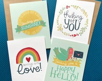 Sending Sunshine - friendship card set - perfect for social distancing