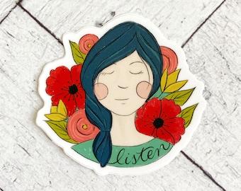 Listen to Your Own Inner Voice - waterproof vinyl sticker for girls, women, mom, moms, Mother's Day -
