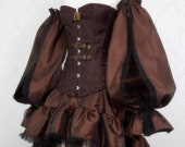 Steampunk Pirate Skirt or Costume | Airship Minx | Ready to Ship, Pirate Festival Dress, Sexy Wench Outfit, Airship Aviator Cosplay