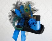 Bella Blue Steampunk Top Hat - Full Size
