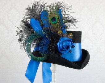 Bella Blue Steampunk Top Hat - Full Size