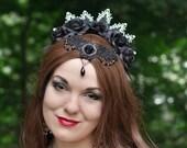 Gothic Flower Crown | Dark Princess | Vampire Headband, Costume Crown, Gothic Headpiece, Medieval Tiara, Evil Queen Crown