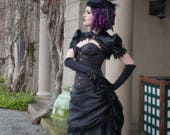 Gothic Wedding Dress | Black Swan | Black Wedding Dress, Alternative Wedding Dress, Black Bridal Gown, Satin Wedding Dress