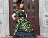 Steampunk Wedding Dress | Olive Opulence | Gothic Wedding Dress, Victorian Ball Gown, Ballgown Wedding Dress,  Civil War Dress