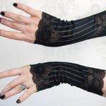 Fingerless Gloves   Steampunk Noir   Black Gloves, Steampunk Gloves, Black Lace Gloves, Gothic Gloves, Womens Black Gloves, Tea Party Gloves