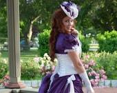 Purple Victorian Wedding Dress | Vintage Diva | Steampunk Gown, Corset Outfit, Steampunk Costume, Fantasy Ball Gown, Elegant Gothic Dress