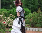 Victorian Wedding Dress | Lace Temptation | Gothic Wedding Dress, Black Lace Wedding Dress, Sexy Wedding Dress, Black and White Bridal Gown