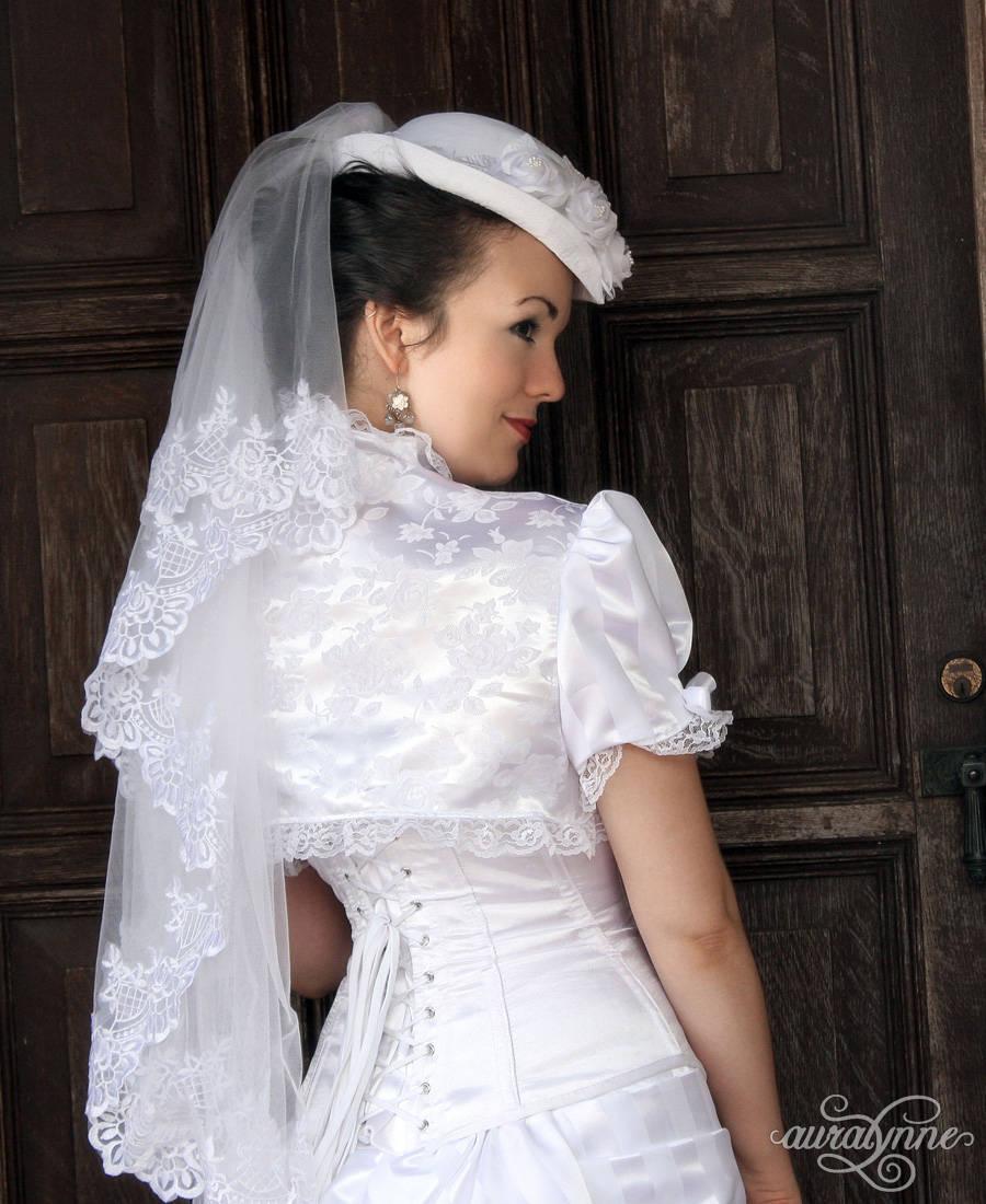 Viktorianisches Korsett Brautkleid Rosa Mia Steampunk