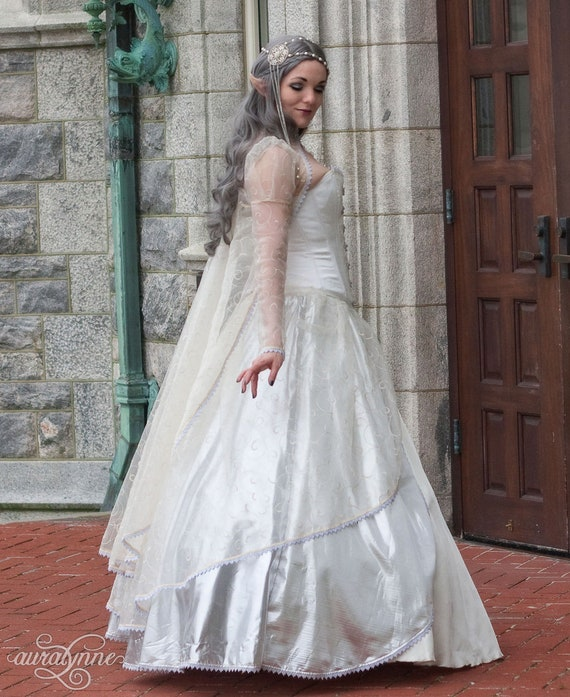 Wedding Gown Fantasy Tale Ballgown Wedding Renaissance Costume Dress Elven Fantasy Elf Dress Dress Enchantment Fairy Cosplay g6vTPq