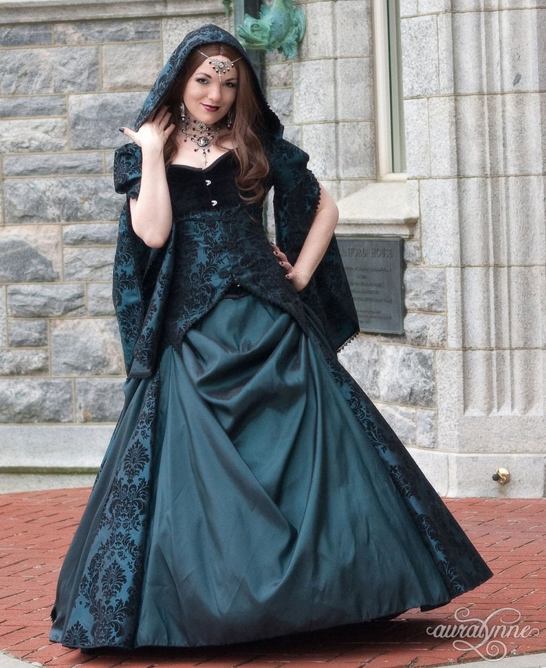 394ec41f1bb Medieval Fantasy Wedding Dress Lady Enchantress Green | Etsy