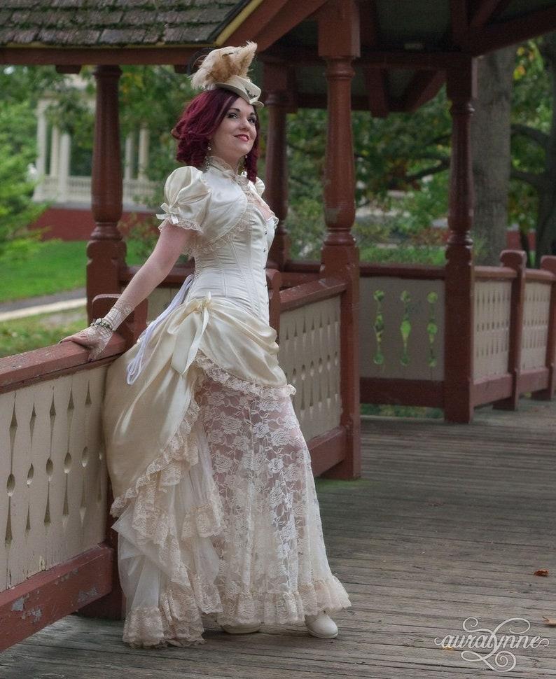 Romantische Trouwjurk.Steampunk Romantische Trouwjurk Vintage Romance Uit Wit Etsy