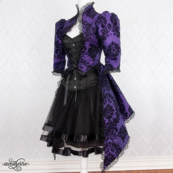 Violet Victorian Gothic Burlesque Garter