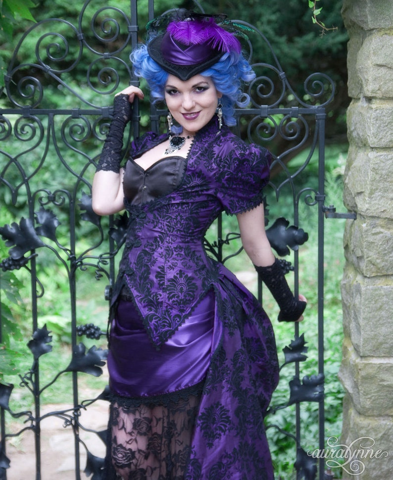 a8c08ec0c99 Gothic Wedding Dress Violet Vixen Victorian Wedding Dress