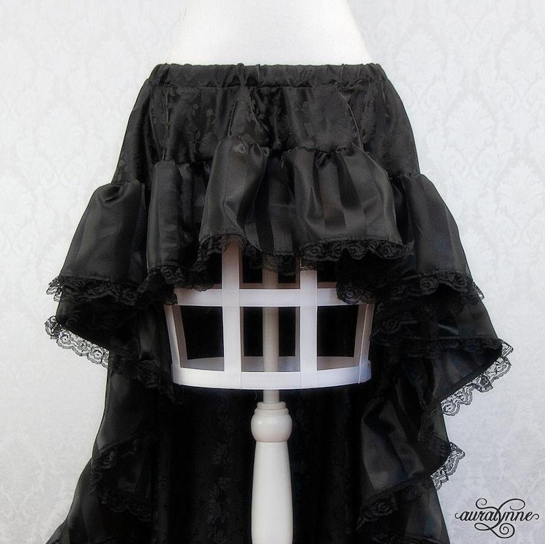 Belladonna Skirt  Black ruffle pirate skirt high low skirt image 0