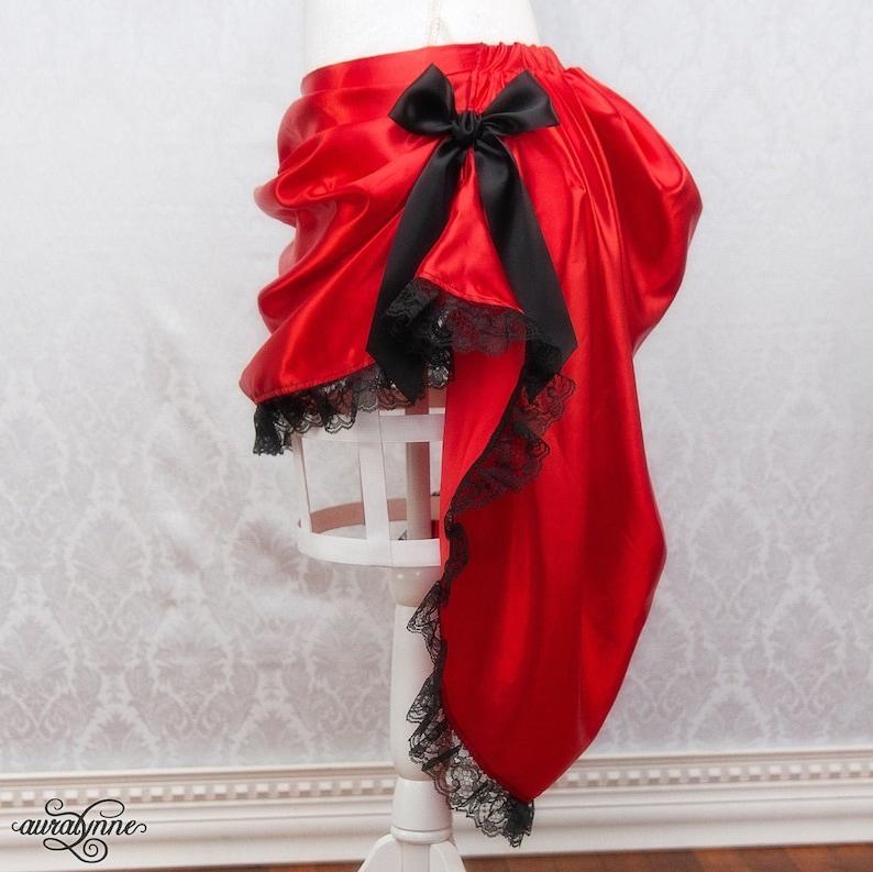 Gothic Victorian Saloon Girl Skirt  Steampunk Cosplay Wild image 0