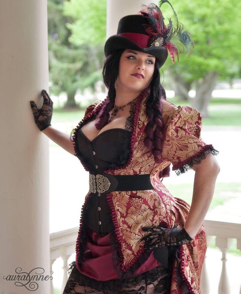 5c4169463f1 Steampunk Wedding Gown Gaslight Siren Elegant Gothic | Etsy