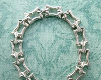 vintage sterling silver fleur de lis link bracelet