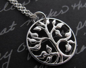 tree of life - sterling silver charm necklace
