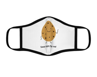 Save Room For Me Chocolate Chip Cookie Fitted Polyester Face Mask