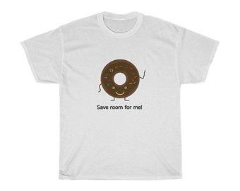 Save Room For Me Chocolate Doughnut Unisex Heavy Cotton Tee