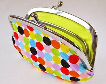 Handmade coin purse / wallet - candy dots