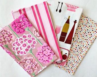 Almost Fat Quarter Bundle - 4 pink fabric (Set C)