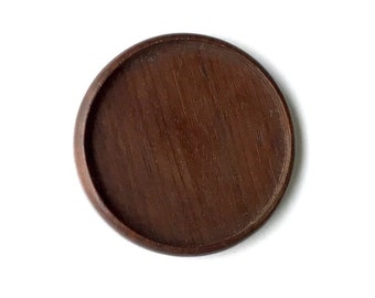 Fine finished NO laser hardwood bezel setting - Walnut - 60 mm cavity - (Z603c-W)