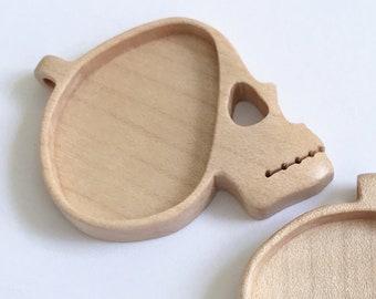 Skull pendant setting - Fine finished hardwood - (SP10)