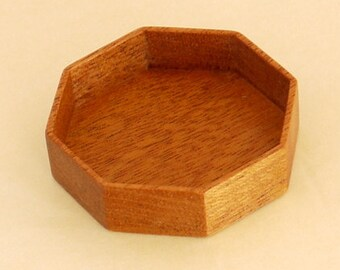 Sailors Valentine - Shadow Box - Handmade by ArtBASE - Mahogany - 60 mm diam. - 11 mm depth - F86-M
