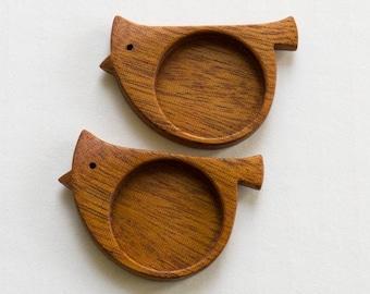"""MADE-TO-ORDER - Original bezel blank fine finished hardwood - Mahogany - 1"""" - 25.5 mm cavity - (X525) - Set of 2"""