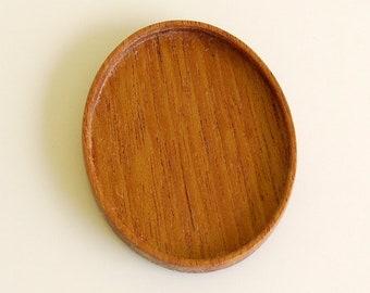 No laser fine finished hardwood bezel tray - Various wood types - 36 x 46 mm cavity - (A1)