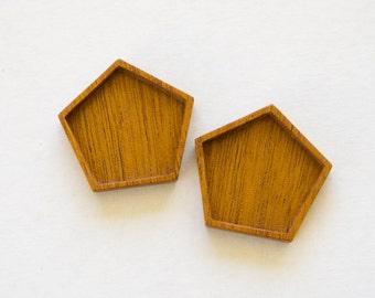 NO Laser Fine Finished Hardwood Trays - Mahogany - (P2-M) - Set of 2